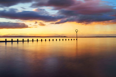 Portobello at Sunset (MilesGrayPhotography (AnimalsBeforeHumans)) Tags: auldreekie britain beach dusk edinburgh europe evening a7ii sonya7ii 2870 sonyfe2870mmf3556oss fe firthofforth glow golden groyne iconic ilce7m2 landscape lens longexposure le nd nd30 10stopper nd1000 outdoors ocean photography photo portobello portobellobeach tranquil reflections scotland sky skyline sunset summer sony town twilight uk unitedkingdom waterscape water oss sea seascape