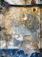 Wall And Wires (jaxxon) Tags: 2017 d610 nikond610 jaxxon jacksoncarson nikon nikkor lens nikon50mmf28g nikkor50mmf28g 50mmf28 50mm niftyfiftyprime fixed pro abstract abstraction plaster wall texture surface peelingpaint antique decay weathered distressed damage damaged urban
