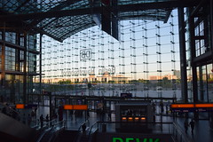 Reichstag and Chancellery District seen from Berlin Hauptbahnhof (A_and_K) Tags: berlin germany hauptbahnhof trainstation reichstag
