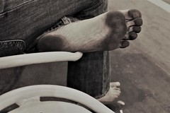 dirty feet in black and white 056 (dirtyfeet6811) Tags: feet sole barefoot dirtyfeet dirtyfoot dirtysole blacksole cityfeet
