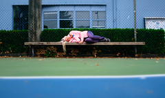 Sidelined (eddi_monsoon) Tags: threesixtyfive 365 selfportrait selfie self portrait bench tenniscourt