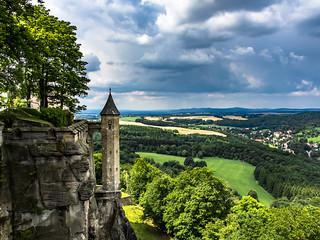 Blick von der Festung Königstein Richtung Dresden