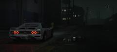 Haze (imkairu) Tags: gta gta5 gtav grand theft auto natural vision atmosphere night dark rain city streets lamp lighting cheetah classic testarossa