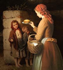 Charity (jaci XIII) Tags: caridade virtude esmola alimento crianças pintura mulher pessoa charity virtue alms food children painting woman person