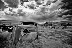 Ghost town California (rvjak) Tags: bodie usa californie california etatsunis ghost town ville fantôme noir blanc white black voiture car