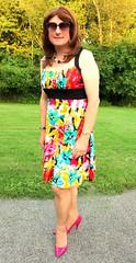 Multi-color Dress (Kim Kross) Tags: cdtv crossdresser crossdressing crossdress tranny transvestite tgirl feminized