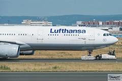 Lufthansa Airbus A330-343E D-AIKD Siegen (718855) (Thomas Becker) Tags: lufthansa dlh airbus a330343x a330343e a330300 a330 daikd siegen star alliance msn 629 270804 fwwyf 121004 kalmar tbl190 towbarless tow tug pushback truck fraport flughafen airport aeroport aeropuerto aeroporto fra eddf frankfurt plane spotting aircraft airplane avion aeroplano aereo 飞机 vliegtuig aviao аэроплан samolot flugzeug germany deutschland hessen rheinmain nikon d7200 nikkor 80400g vrii dx raw gps aviationphoto cthomasbecker 170718 taxiing noseshot geotagged geo:lat=50039523 geo:lon=8596970 aerotagged aero:airline=dlh aero:man=airbus aero:model=a330 aero:series=300 aero:special=x aero:special=e aero:tail=daikd aero:airport=eddf