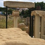 The ruins of an ancient Greek temple.