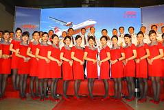 Far Eastern Air Transport ATR2-600 ceremony... (Manuel Negrerie) Tags: fat atr72600 crew aircrew stewardess woman pilots tsa taiwan airlines uniform canon people