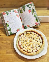 Strawberry & basil pie (-Morgane-) Tags: cooking baking cake pie strawberry basil composition recipe hearts katiedaisy