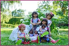 Blaue Stunde im Park ... (Kindergartenkinder) Tags: dolls himstedt annette park blume garten kindergartenkinder essen grugapark personen blumen sanrike tivi milina sommer kindra setina leleti reki