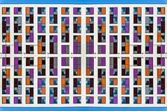 Study in Orange and Purple (Dom Walton) Tags: orange purple darkred blue mirror mondrian domwalton premier premierinn express portsmouth