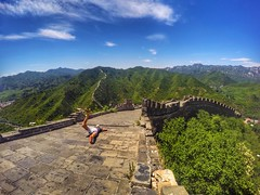 The Great Fall (Alexandr Tikki) Tags: wow fantastic amazing art awesome alexandrtikki architecture best creative concept crazy classic earth explore china wall sky blue great gopro goprohero4 hero holiday happy journey leveltravel landscape moment me man new nature perfect original outdoor tikki travel trip view world