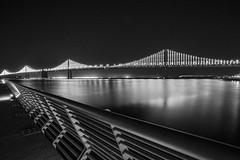 Bay Bridge at night (frank.gronau) Tags: frank gronau sony alpha 7 san francisco nacht night bay bridge brücke schwarz weis bw licht light black white