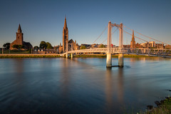 Greig St Bridge (Kyoshi Masamune) Tags: inverness riverness uk scotland kyoshimasamune scottishhighlands highlands northcoast500 nc500 greigstbridge churchofscotland wideangle ultrawideangle longexposure zomeind1000 zomei cokinnd8 cokinfilters goldenhour