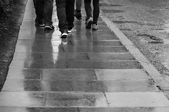 A Rainy Summers Day-115 (Philip Gillespie) Tags: edinburgh scotland nationel scottish museum abstract monochrome black white colour street photography people man woman men women girls boys children kids adults playing learning toys roof sun clouds architecture slow tourist holiday statues sculpture glass shadow light couple family skyline nature city scape view scenery dark group gathering perspective feet legs 2017 canon 5dsr eos hands arms grass heather trees rain drops