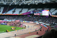 Race - T44 Mens 200m final (h_savill) Tags: london 2017 world para athletics championship stratford july stadium competition compete athelete atheletics disability spectator aport track field seat crowd olympic park t44 mens 200m final race