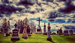 above all others.... (BillsExplorations) Tags: cemetery grave monument graveyard cross faith religion rural slide slidersunday cascade iowa sky clouds calvarycemetery