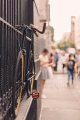 Soho bike (ninasclicks) Tags: bycicle bike newyork soho travel street streetphotography travelphotography bokeh dof girl people urban city