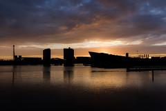 Amsterdam Sunrise Silhouette (mcalma68) Tags: amsterdam sunrise silhouette waterfront cloudscape seascape oosterdok nemo