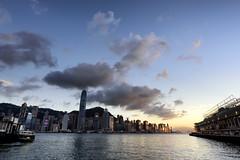 Tsim Sha Tsui (Marco N. Pochi) Tags: city hongkong sky cloud landscape sunset harbour sea