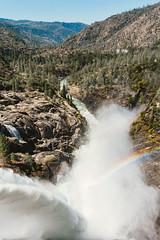 O'Shaughnessy Dam Output (shigbyphoto) Tags: yosemite yosemitenationalpark nature forest oshaughnessydam hetchhetchy hetchhetchyreservoir landscape landscapephotography california sierranevada tuolumneriver rainbow river waterfall mountains hills