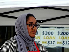 A Cold day in July (knightbefore_99) Tags: car free day hijab syrian head cloth loan italian vancouver commercialdrive cool eastvan thedrive 2017 glasses awesome july