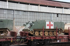 U.S. Army M113 Medical carrier , Legnica train station 01.08.2017 (szogun000) Tags: legnica poland polska railroad railway rail pkp station car carriage lorry flatcar platforma db pkpcargo train pociąg поезд treno tren trem military wojskowy eszelon echelon transport american army usarmy equipment vehicle apc m113 carrier medical support d29137 d29275 d29284 d29289 e30 dolnośląskie dolnyśląsk lowersilesia canon canoneos550d canonefs18135mmf3556is