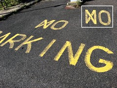 ⋈O PARKING (HUNGRYGH0ST) Tags: signage tarmac error asphalt