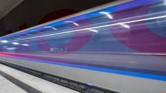 Blue Stripes (katrin glaesmann) Tags: münchen munich tube station ubahn metro mvg workshop moosfeld u2 kesslersturm 1999 ingomaurer