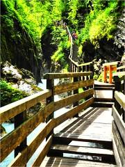 Wimbachklamm (almresi1) Tags: oberbayern bridge brücke steg water wasserfall waterfall stairs treppen sun
