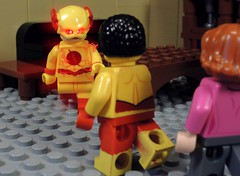 You Wallace West are New (MrKjito) Tags: lego minifig super hero comics comic dc rerbirth reverse flash wally west iris eobard thawne rebirth home new kid speed force