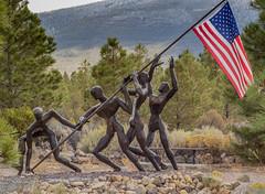 Flag Planting (marvhimmel) Tags: sculpture memorial park vietnam general yreka ca mtsurabachi wwii