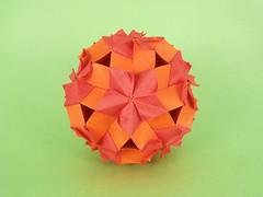 Geranium (masha_losk) Tags: kusudama кусудама origamiwork origamiart foliage origami paper paperfolding modularorigami unitorigami модульноеоригами оригами бумага folded symmetry design handmade art