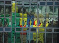 Bauhaus (Ed Sax) Tags: abstrakt bunt gelb blau edsax hamburg fassade architektur design glas fenster palmaillie altona ngc