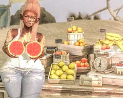 .149; juuicy melons! (Choitato Hyun Seung) Tags: catwa tala itgirls lore stealthic paradox hairfair lotus slink dynamic maitreya lara gaja omrida moonamore tony rut cynful hh collabor88 sanarae foxcity dustbunny studioskye events fairs secondlife sl ahchooe choi blog blogger photographer photography fruit melons goldmember fanfic hillyhaalan amateur