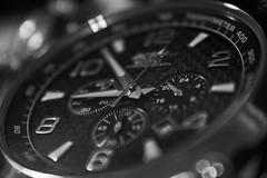 watch (dafir.m_aljboori@ymail.com) Tags: watch time active closeup canon black white