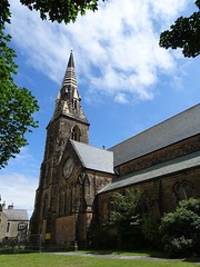 Church of St James, New Brighton (Wider World) Tags: churchofengland england church parish georgegilbertscott sandstone spire neogothic gothicrevival newbrighton