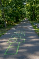Hopscotch (Karol A Olson) Tags: lakekittamaqundi park columbia maryland hopscotch path trees jul17