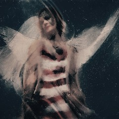 Learning to Fly (lorenka campos) Tags: artdigital mobileartistry modernart fineart art expressionism flying women birds wings