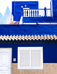 Blue and White. (CWhatPhotos) Tags: puerto del la cruz building blue white art artistic view town windows window door doorways doors doorway tenerife going holiday holidays photographs photograph pics pictures pic picture image images foto fotos photography that have which with contain olympus esystem four thirds digital camera lens 43 mft micro cwhatphotos