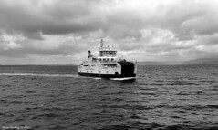 Scotland West Highlands Argyll car ferry Loch Shira 16 July 2017 by Anne MacKay (Anne MacKay images of interest & wonder) Tags: scotland west highlands argyll caledonian macbrayne car ferry loch shira monochrome blackandwhite xs1 16 july 2017 picture by anne mackay