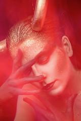 (Azlanova) Tags: model demon diy led mixedlighting portrait character cosplay horns surreal makeup longexposure shutterspeed pink fantasy