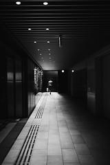 Line (tomorca) Tags: perspective stair line monochrome woman street fujifilm xt2