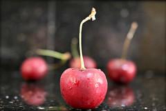2017 Sydney: First Cherries (dominotic) Tags: 2017 food fruit stonefruit cherry cherries redcherry sweetcherries waterdroplets sydney australia