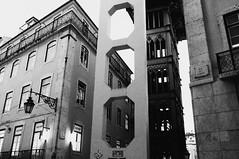 memories (juliemfriedl) Tags: oldtown monochrome bnw blackandwhite bw streetphotography streetphoto street cityscape lisbon elevator architecture city