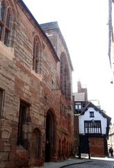 [52568] Coventry : Bayley Lane - St Mary's Hall & The Cottage (Budby) Tags: coventry westmidlands medieval gild guild hall timbered