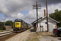 Tullahoma Local (Colin Dell) Tags: emd gp40 yn2 csx local train tullahoma tn tennessee depot station slug slugset brightfuture paint scheme