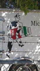 Milkman (danieljsf) Tags: milk milkman barbedwire paloalto