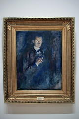 Self-Portrait with Cigarette, by Edvard Munch (JB by the Sea) Tags: sanfrancisco california july2017 urban financialdistrict sanfranciscomuseumofmodernart sfmoma painting edvardmunch expressionist expressionism